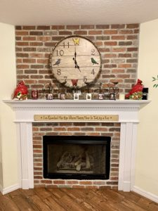 Fireplace at A Country Home Assisted Living facility.